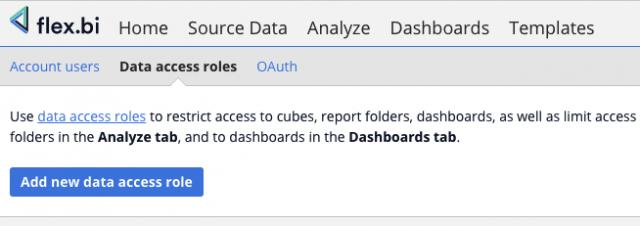 data access roles